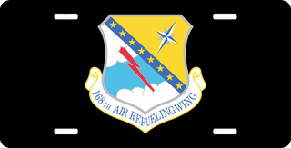 U.S. Air Force 168th Air Refueling Wing License Plate