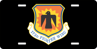 U.S. Air Force 173rd Fighter Wing License Plate