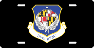 U.S. Air Force 175th Wing License Plate