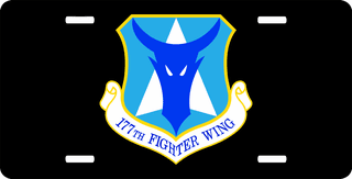 U.S. Air Force 177th Fighter Wing License Plate