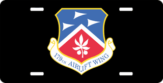 U.S. Air Force 179th Airlift Wing License Plate