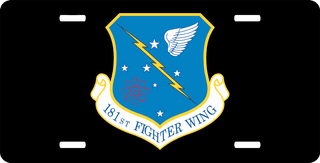 U.S. Air Force 181st Fighter Wing License Plate