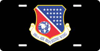 U.S. Air Force 186th Air Refueling Wing License Plate