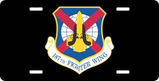 U.S. Air Force 187th Fighter Wing License Plate