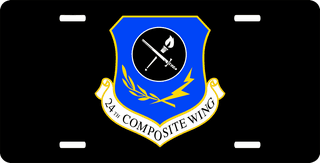U.S. Air Force 24th Composite Wing License Plate