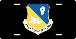 U.S. Air Force 27th Fighter Wing License Plate