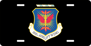 U.S. Air Force 302nd Airlift Wing License Plate