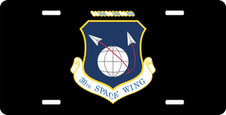 U.S. Air Force 30th Space Wing License Plate