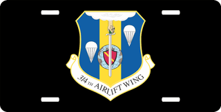 U.S. Air Force 314th Airlift Wing License Plate