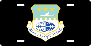 U.S. Air Force 315th Airlift Wing License Plate