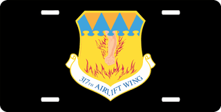 U.S. Air Force 317th Airlift Wing License Plate