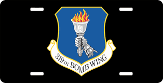 U.S. Air Force 319th Bomb Wing License Plate