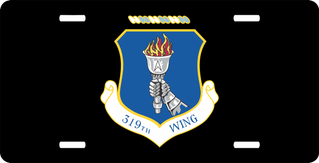 U.S. Air Force 319th Wing License Plate