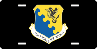 U.S. Air Force 31st Fighter Wing License Plate