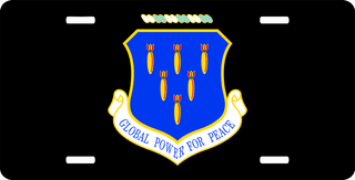 U.S. Air Force 321st Missile Group License Plate
