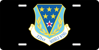 U.S. Air Force 321st Missile Wing License Plate