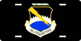 U.S. Air Force 325th Fighter Wing License Plate