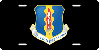 U.S. Air Force 33rd Fighter Wing License Plate