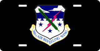 U.S. Air Force 340th Air Refueling Wing License Plate