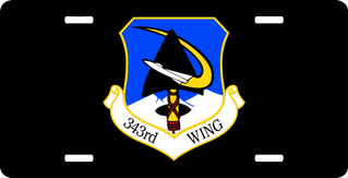 U.S. Air Force 343rd Wing License Plate