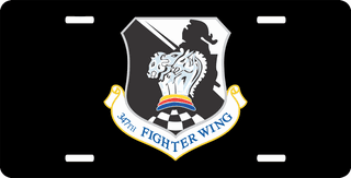 U.S. Air Force 347th Fighter Wing License Plate