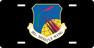 U.S. Air Force 351st Missile Wing License Plate