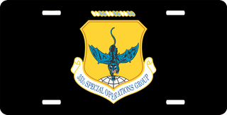 U.S. Air Force 353rd Special Operations Group License Plate