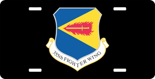 U.S. Air Force 355th Fighter Wing License Plate