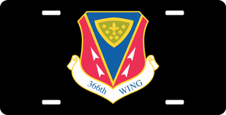 U.S. Air Force 366th Wing License Plate