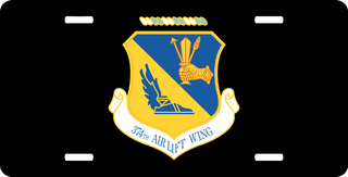 U.S. Air Force 374th Airlift Wing License Plate