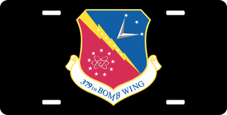 U.S. Air Force 379th Bomb Wing License Plate