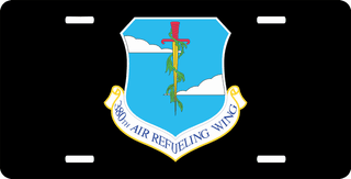 U.S. Air Force 380th Air Refueling Wing License Plate