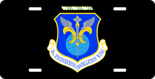 U.S. Air Force 38th Engineer Installation Wing License Plate