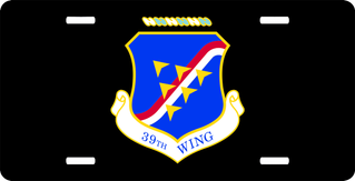U.S. Air Force 39th Wing License Plate