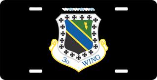 U.S. Air Force 3rd Wing License Plate