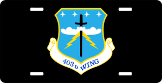 U.S. Air Force 403rd Wing License Plate