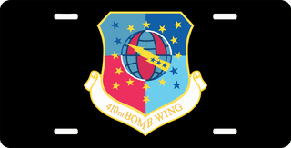 U.S. Air Force 410th Bomb Wing License Plate