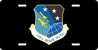 U.S. Air Force 416th Bomb Wing License Plate