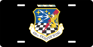 U.S. Air Force 419th Fighter Wing License Plate