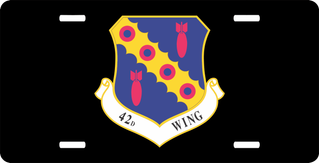 U.S. Air Force 42nd Wing License Plate