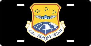 U.S. Air Force 433rd Airlift Wing License Plate