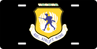 U.S. Air Force 437th Airlift Wing License Plate