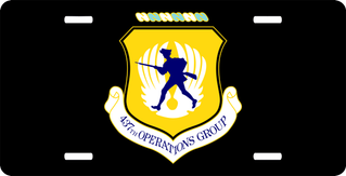 U.S. Air Force 437th Operations Group License Plate