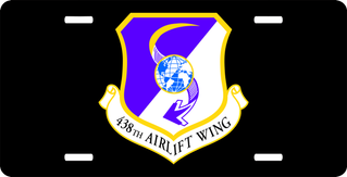 U.S. Air Force 438th Airlift Wing 2 License Plate
