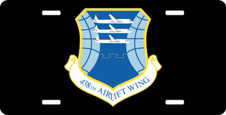 U.S. Air Force 438th Airlift Wing License Plate