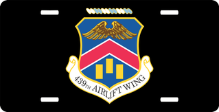 U.S. Air Force 439th Airlift Wing License Plate