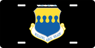U.S. Air Force 43rd Air Refueling Wing License Plate