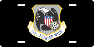 U.S. Air Force 442nd Fighter Wing License Plate