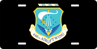 U.S. Air Force 446th Airlift Wing License Plate