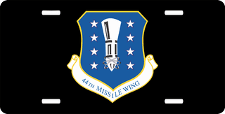 U.S. Air Force 44th Missile Wing License Plate